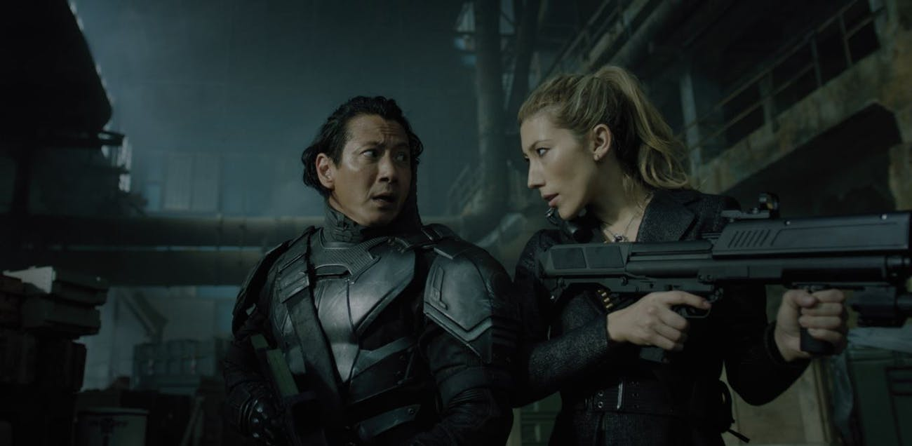 Will Yun Lee (left) plays the original body of Takeshi Kovacs.