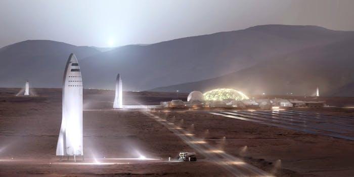 The BFR on Mars