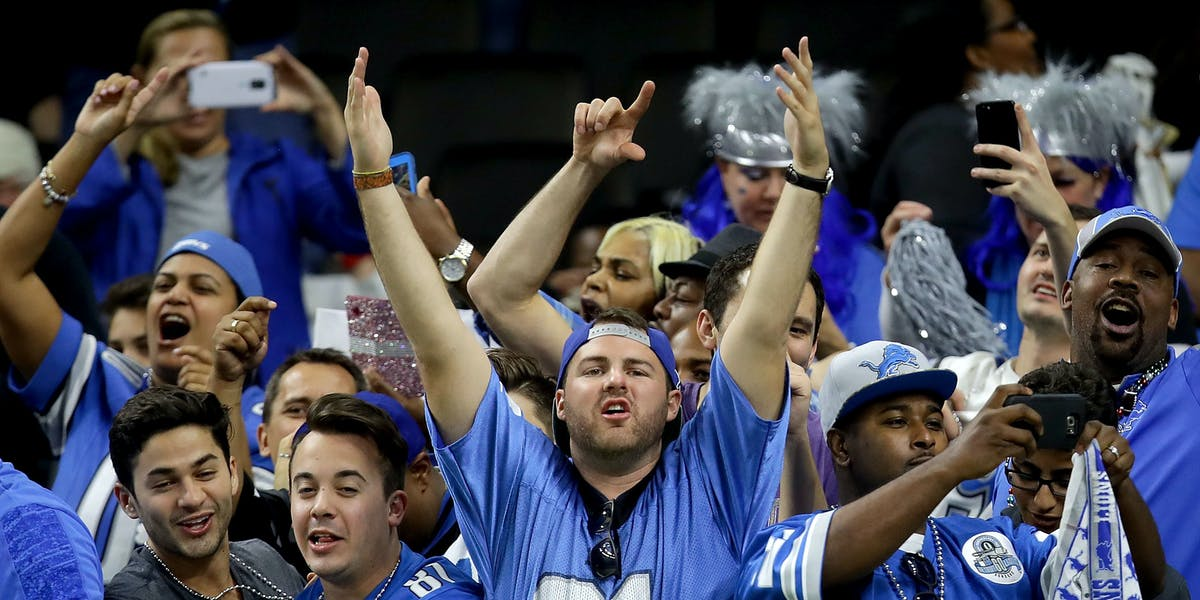 This man is cheering because on Sunday night, his team was unpredictably predictable.
