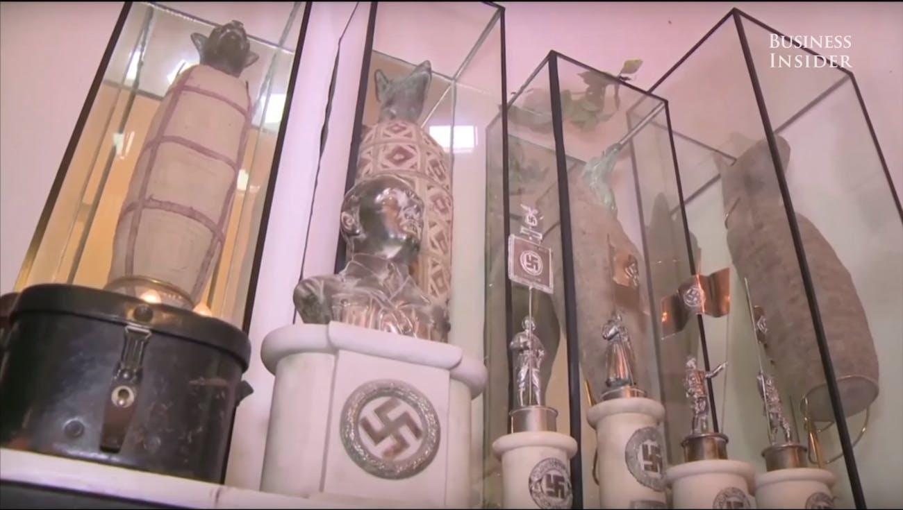 Nazi statues Argentina secret room