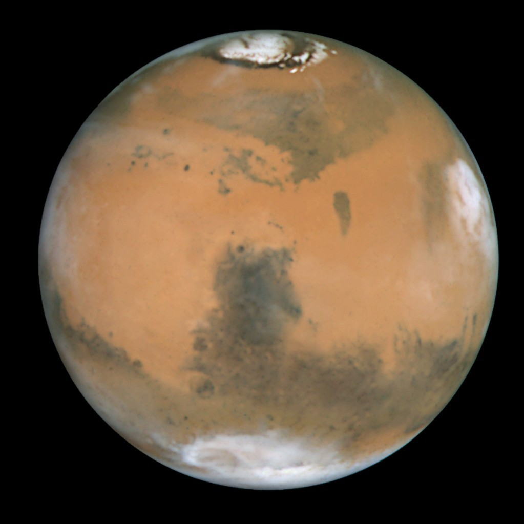 Mars can be seen and used as a marker for Saturn, which will be right below and to the left.