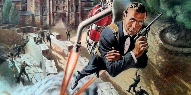 James Bond with a jetpack.