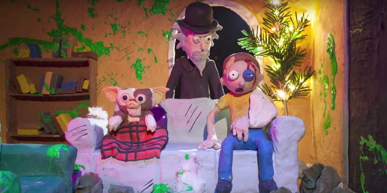 'Rick and Morty: The Non-Canonical Adventures' parodies the ending to 'Gremlins.'