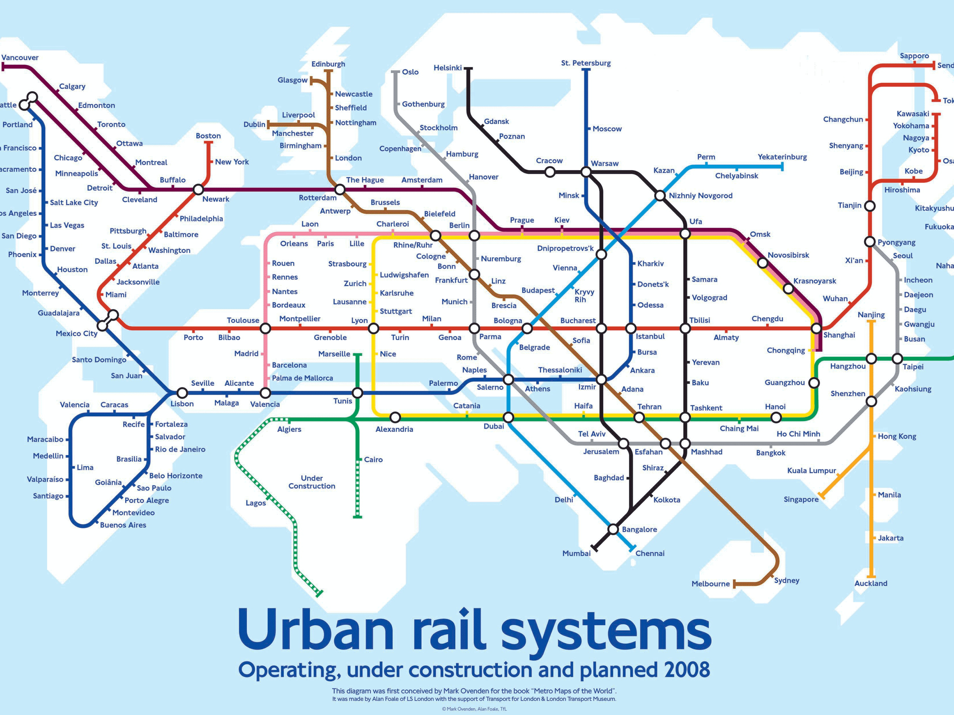 World Subway Map Shows What a Hyperloop-Powered Future May Look Like