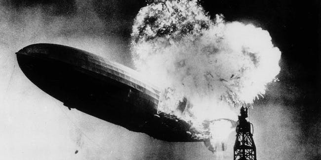The Hindenburg crash changes air travel forever.