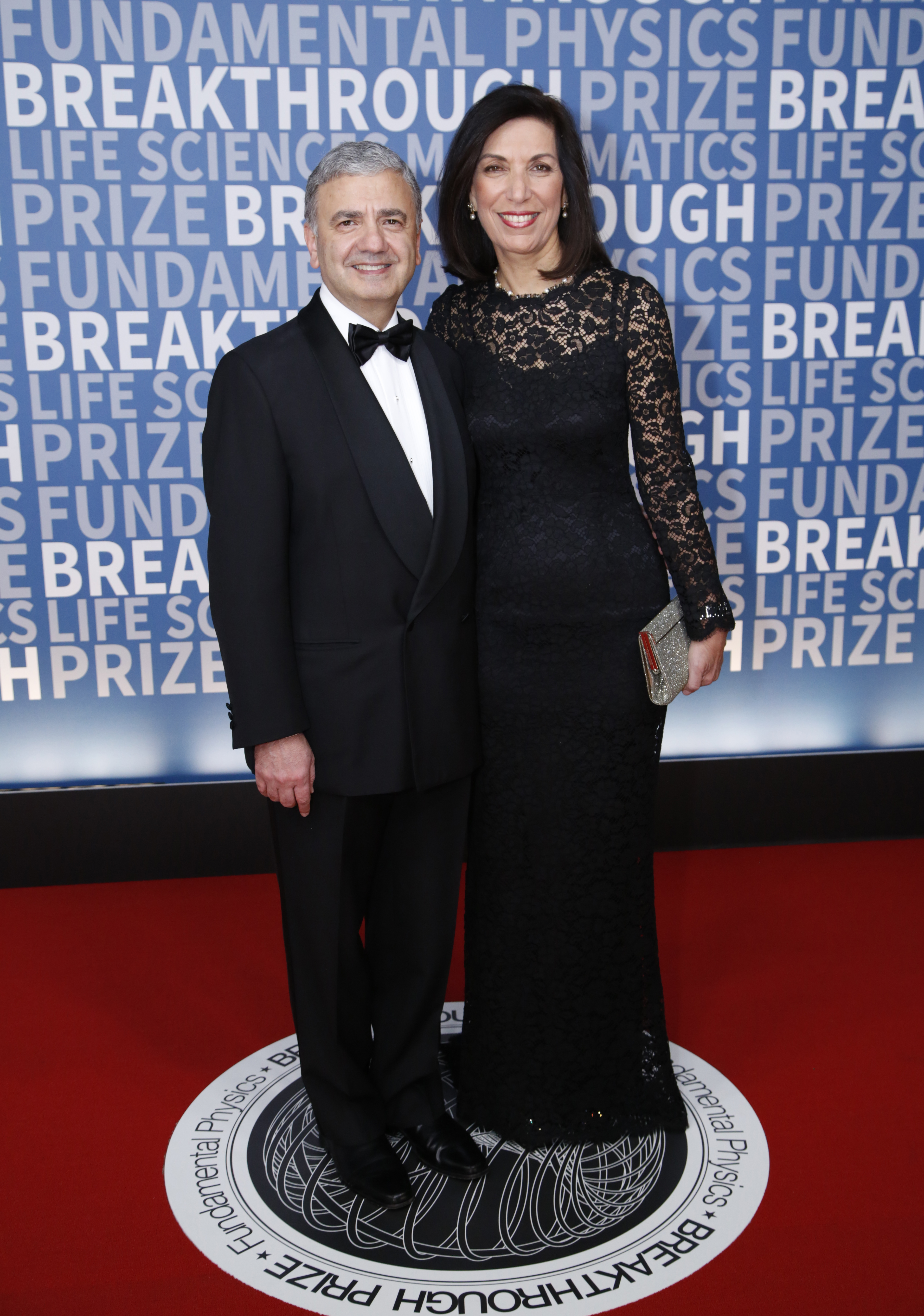 Breakthrough Prize in Life Sciences Laureate Huda Zoghbi (right) and William Zoghbi (left) attend the 2017 Breakthrough Prize at NASA Ames Research Center.