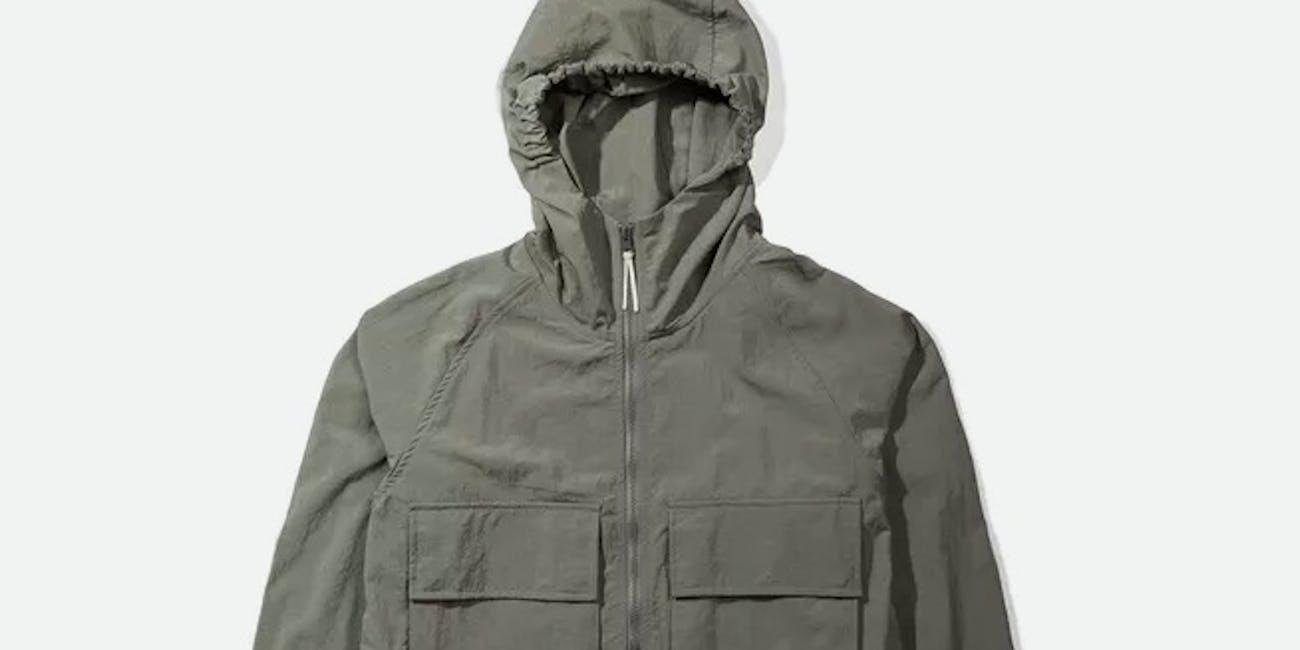 Native North Hooded Windbreaker Jacket