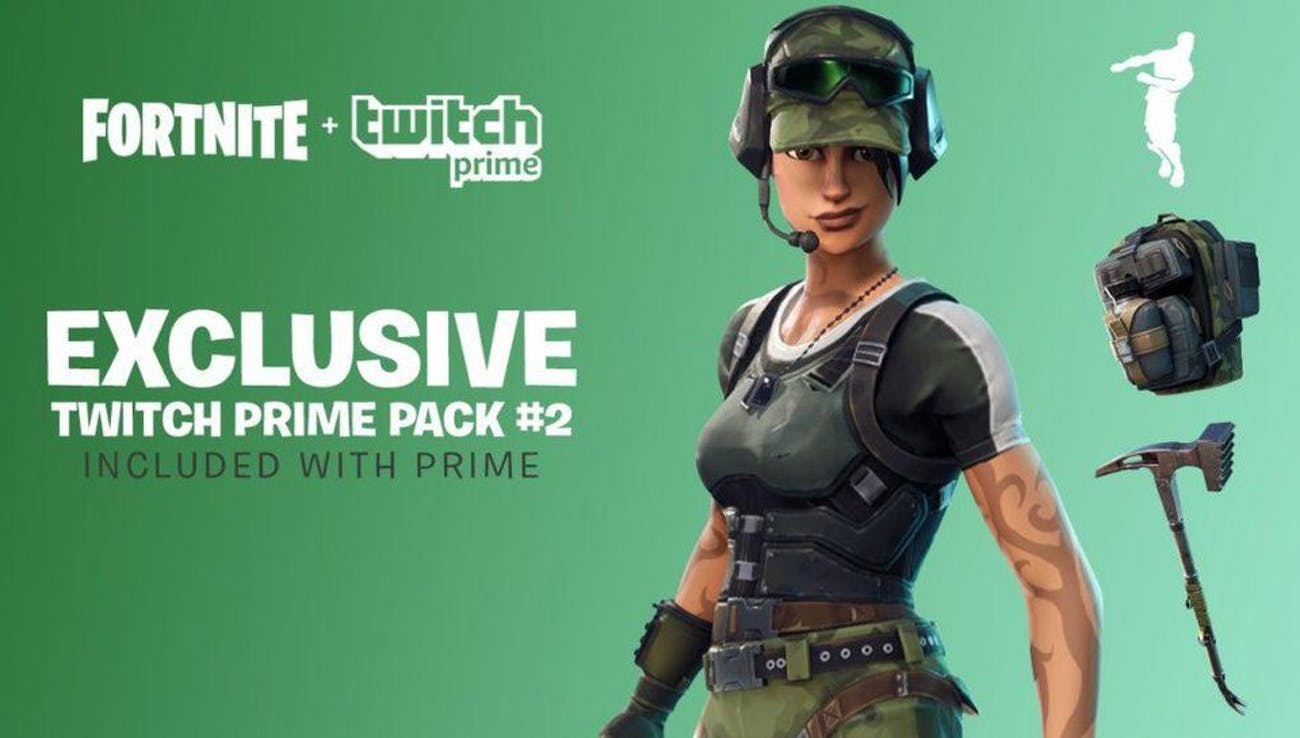 The second 'Fortnite' Twitch Prime Pack is now available.