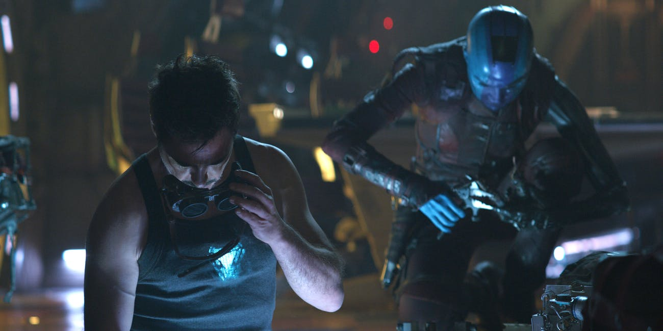 Tony Stark and Nebula 'Avengers: Endgame'
