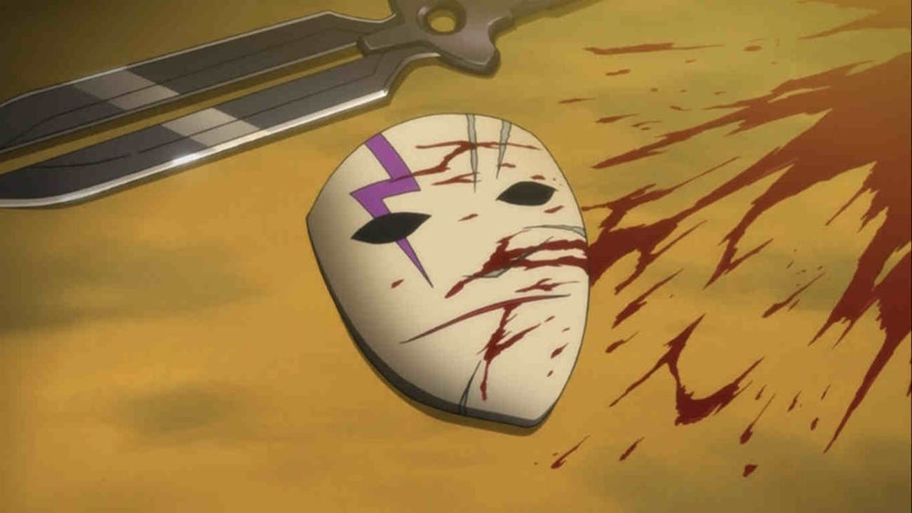 Hei's pierrot-inspired mask conceals his face when he's out on missions.