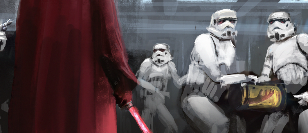 Luke Skywalker severed hand art ILM Fred Palacio