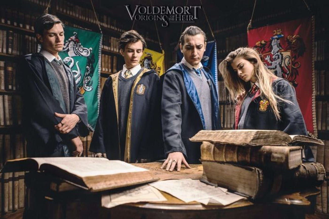 Yes, we get to see the classic Hogwarts costumes, too.