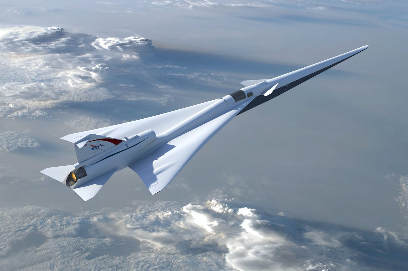 Supersonic Boom Quiet Plane