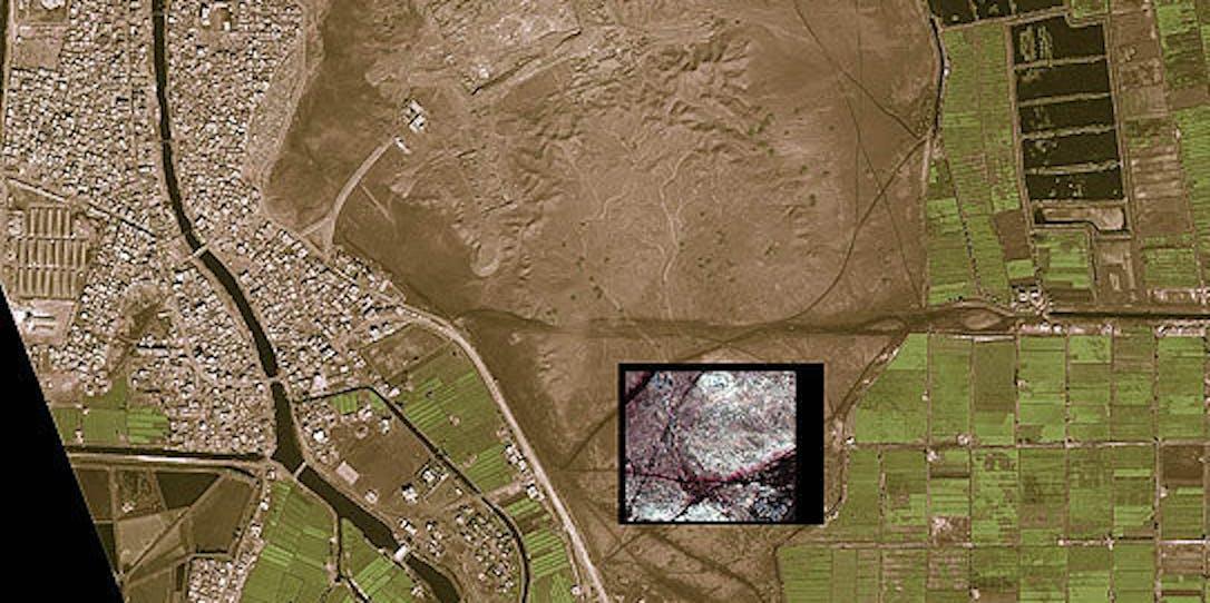 Egypt Pyramids from NASA Satellite