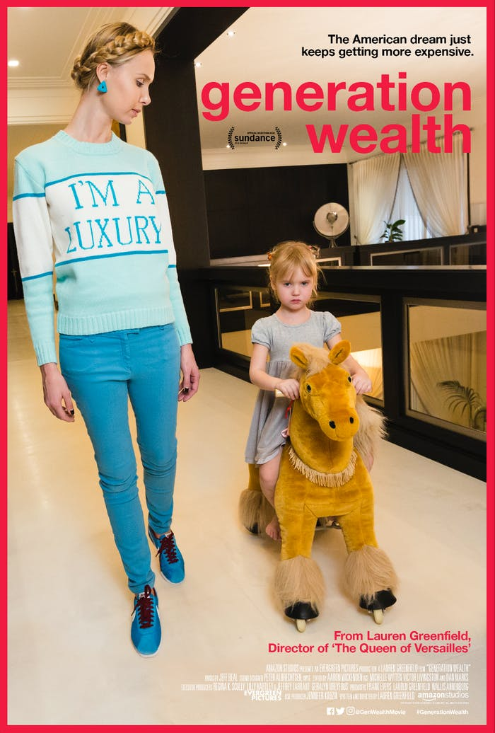 The poster for 'Generation Wealth'
