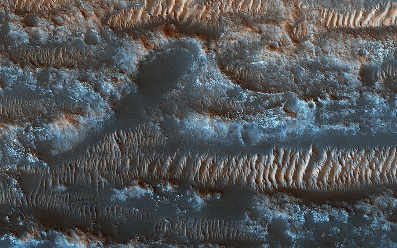 mars sandy topography