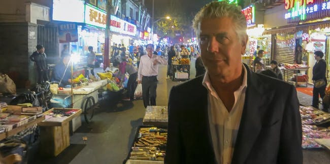 Bourdain in the city of the future.