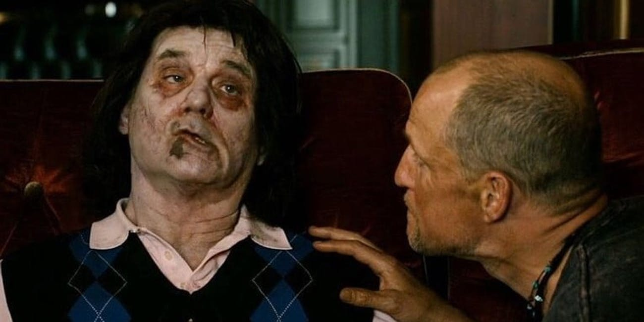Bill Murray pretending to be a zombie in 'Zombieland' (2009)
