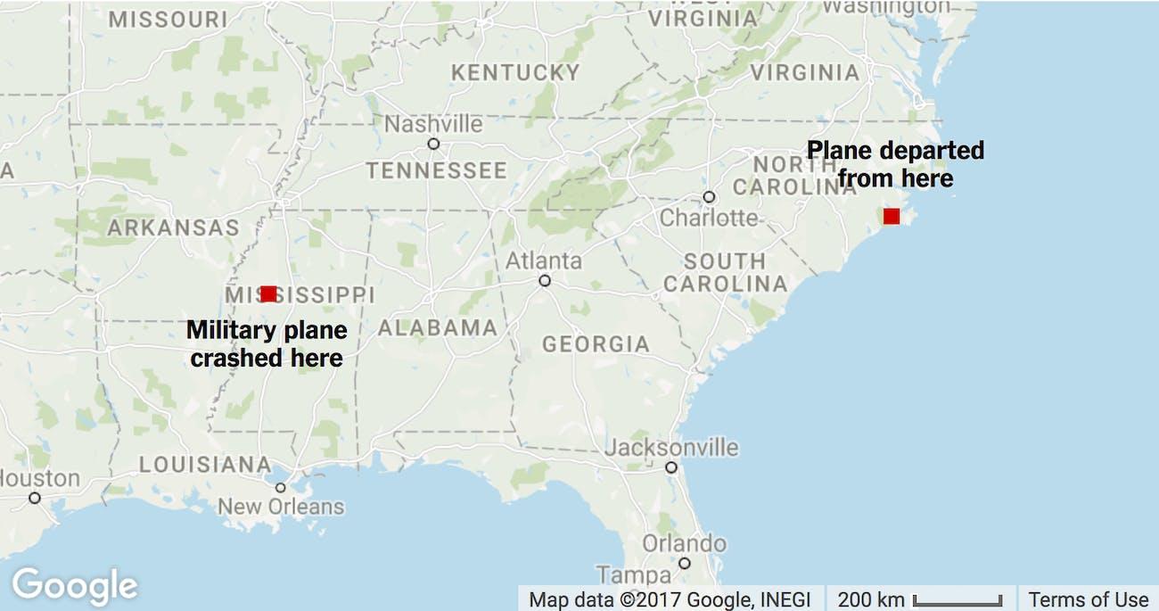 Navy Marines Plane Crash Mississippi