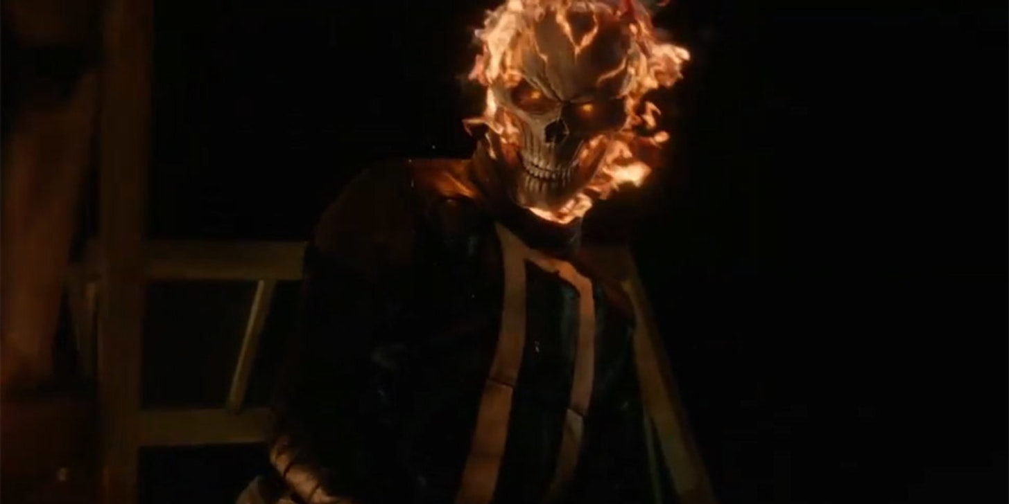 Gabriel Luna as Ghost Rider on Marvel's Agents of SHIELD