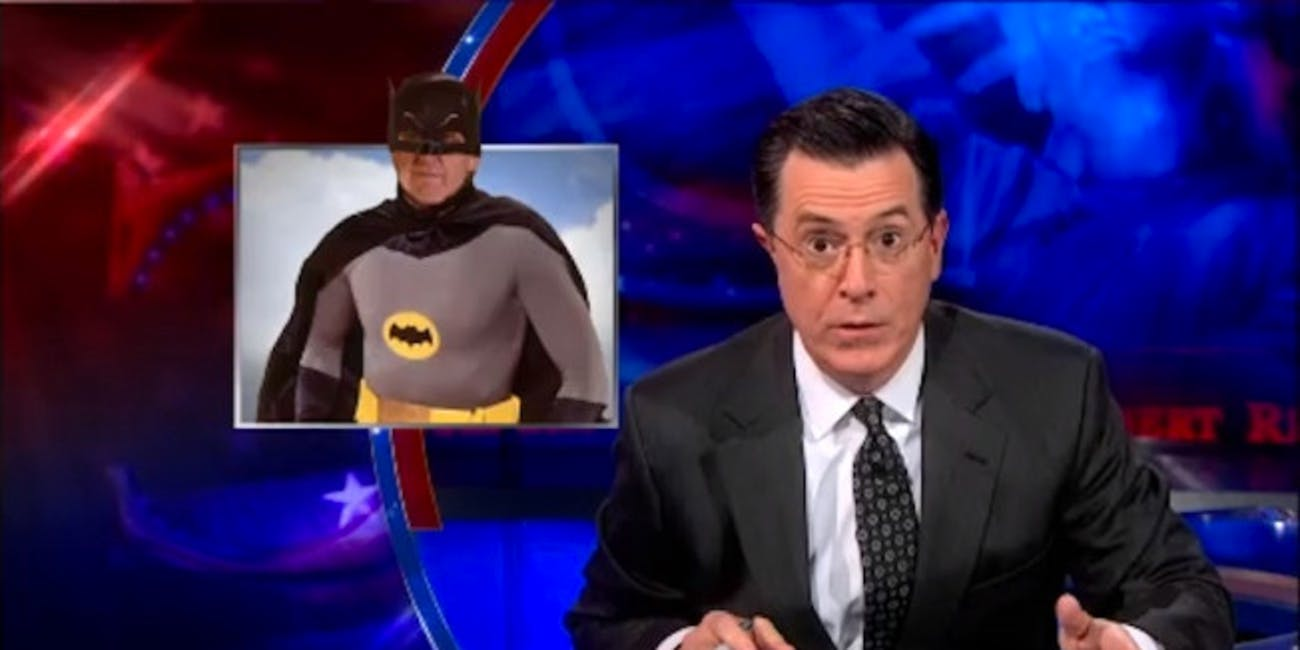 Watch Stephen Colbert Shove Batman Into Every Christmas Carol | Inverse