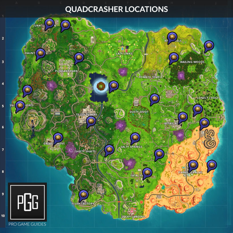 Fortnite Vehicle Timed Trial Locations Video Map And Guide For