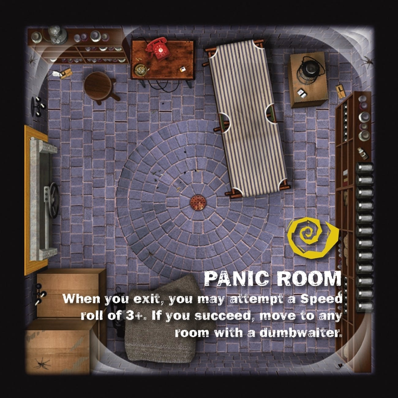 Panic Room room tile from 'Betrayal at House on the Hill' expansion 'Widow's Walk'