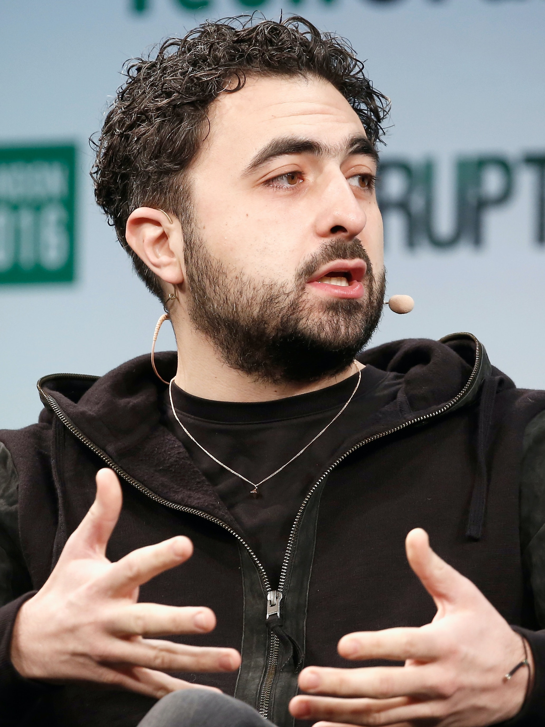 Co-founder of Google DeepMind Mustafa Suleyman attends a Q&A during day 1 of TechCrunch Disrupt London at the Copper Box on December 5, 2016 in London, England.