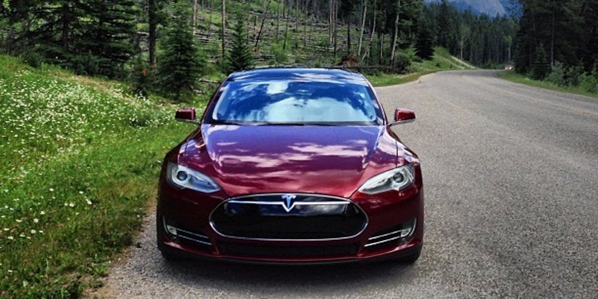 #tesla model s #banff road trip from #yyc