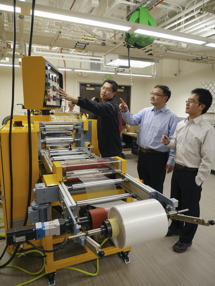 This roller is used to fabricate the glass-polymer metamaterial film.