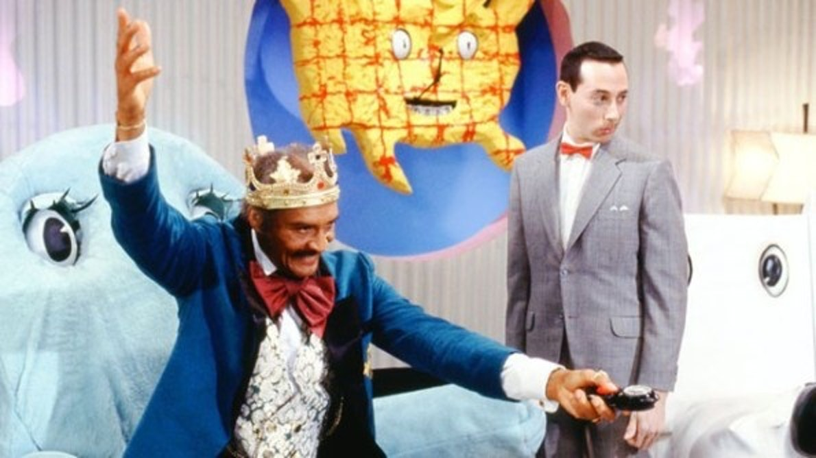 The King of Cartoons and Pee Wee. Chairy chillin' in the back, natch.