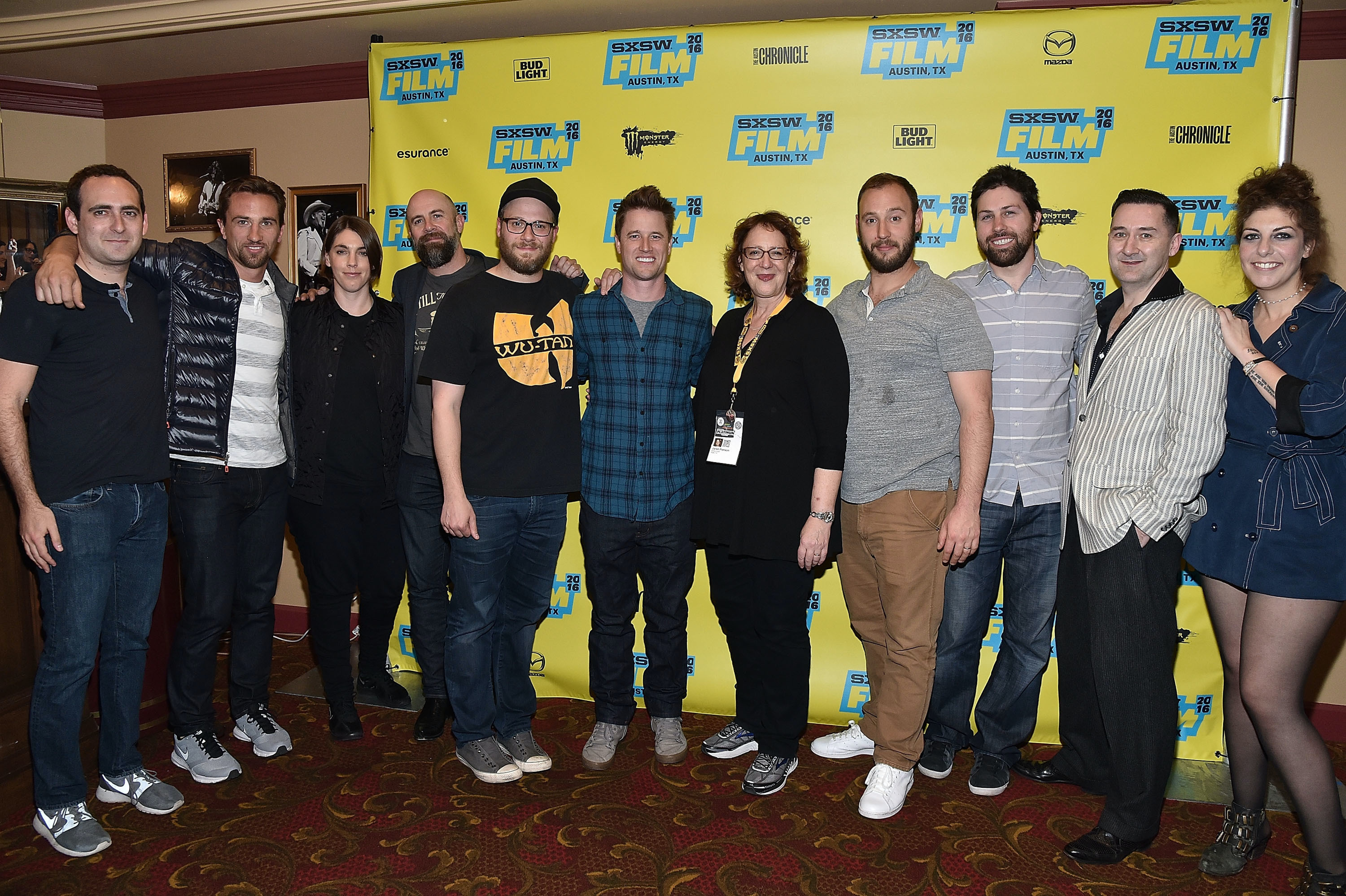 AUSTIN, TX - MARCH 14: The cast and crew of 'Sausage Party (Work In Progress)' attend the premiere of their film during the 2016 SXSW Music, Film + Interactive Festival at Paramount Theatre on March 14, 2016 in Austin, Texas.  (Photo by Mike Windle/Getty Images for SXSW)