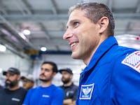 NASA astronauts meeting SpaceX team