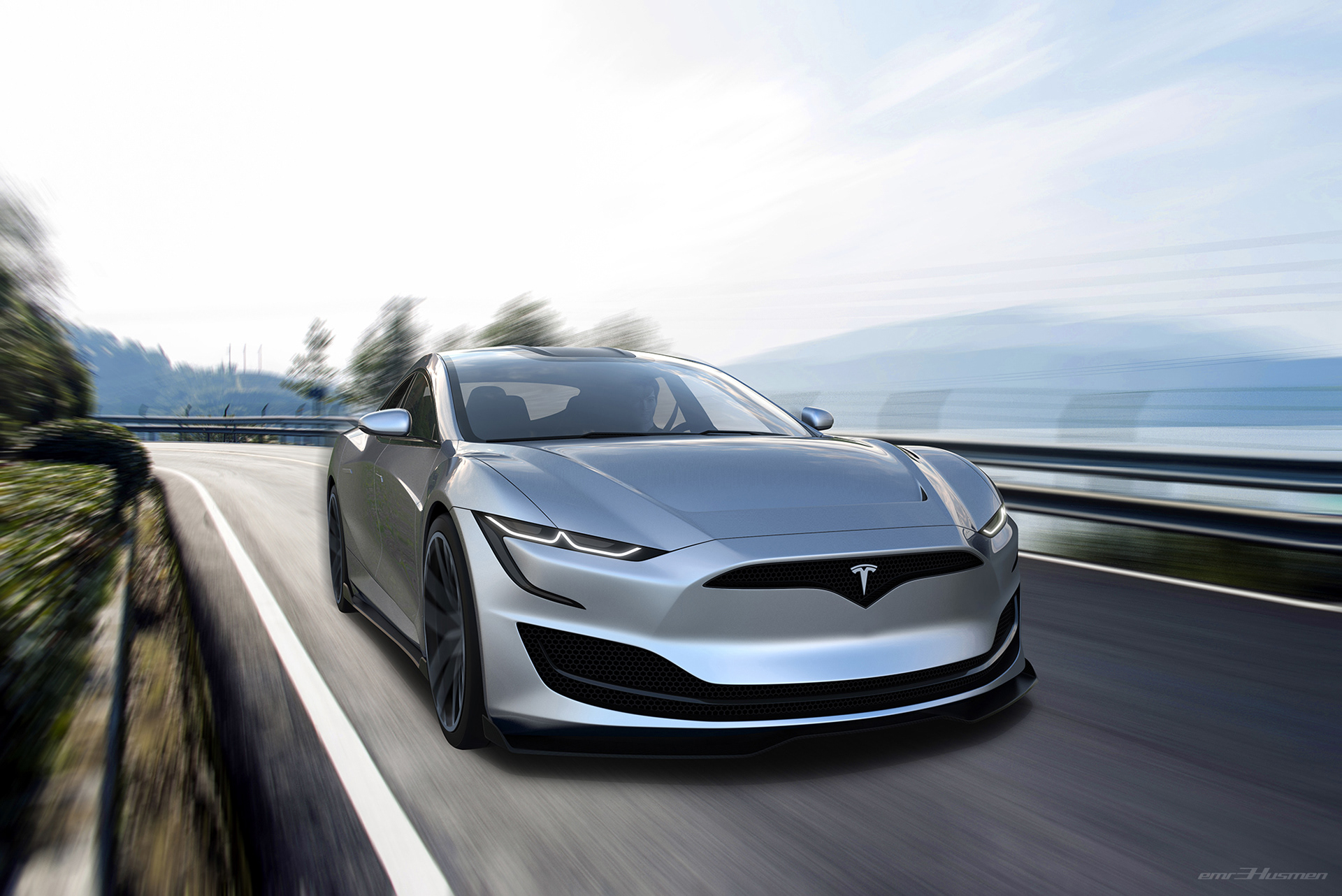 Stunning Tesla Model S Concept Render Imagines Roadster Inspired Redesign