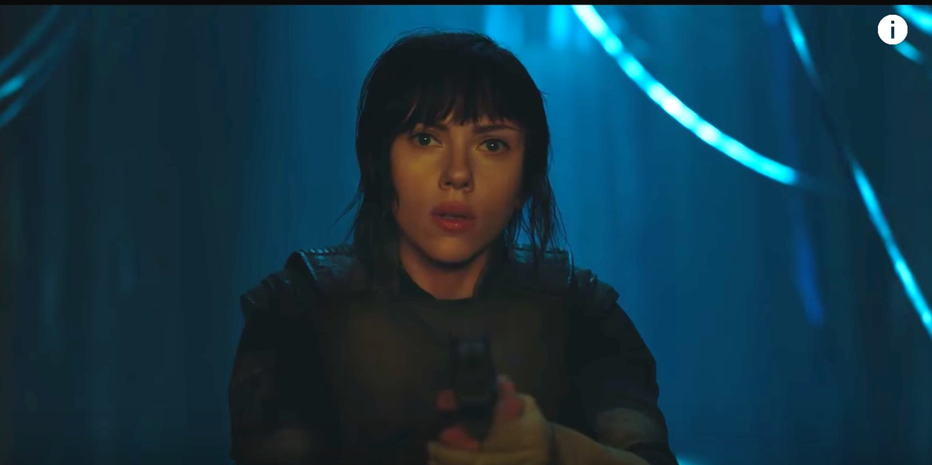 Scarlett Johansson in the 'Ghost in the Shell'movie