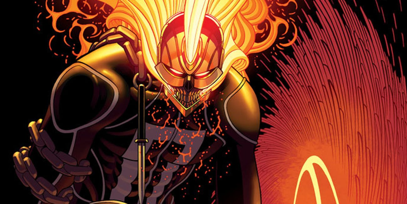 Cover for Marvel's Ghost Rider #1 with Robbie Reyes