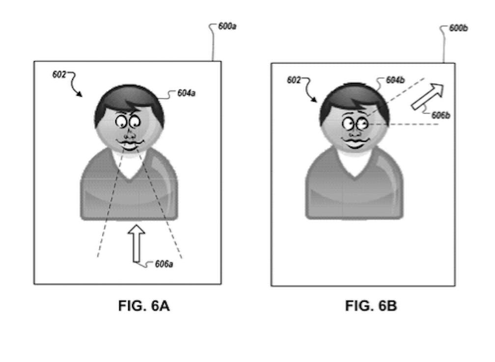 Apple patent avatar eyes following