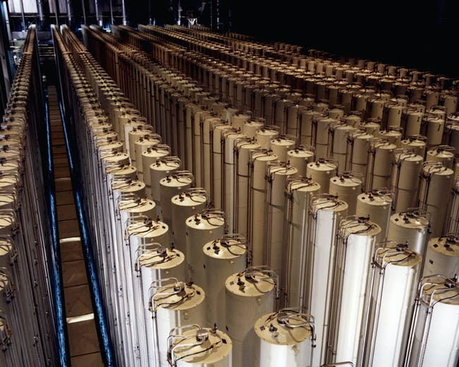 American gas centrifuges at an enrichment plant in the United States similar to the ones destroyed by Stuxnet.