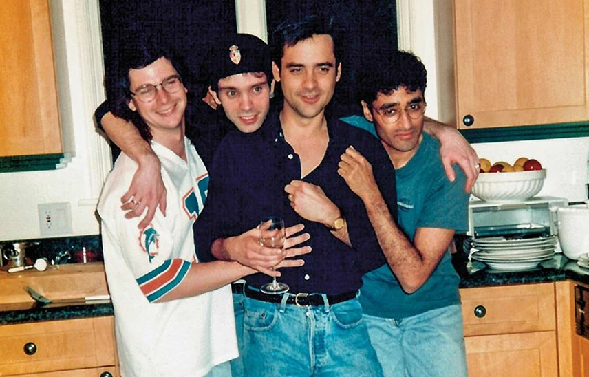 Naren Shanker (far right) with writers from 'Star Trek: The Next Generation' in 1992 including Ron Moore, Rene Echevarria and Brannon Braga.