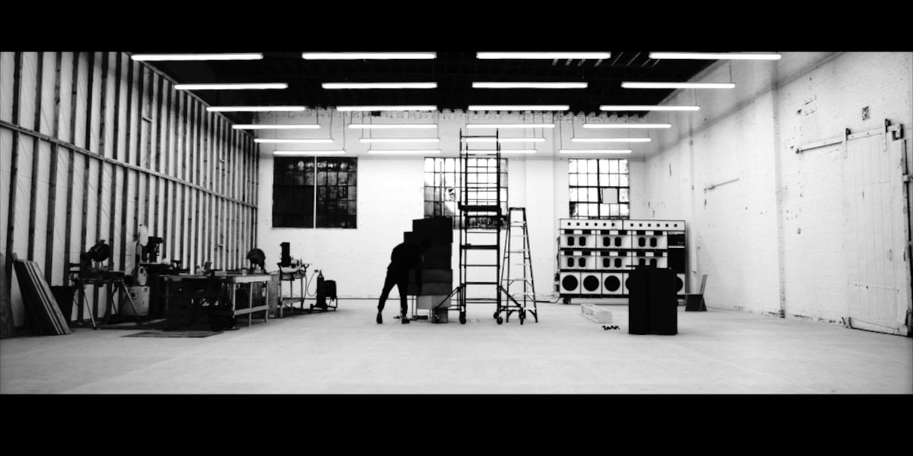 Frank Ocean builds a staircase made of wooden boxes in the 45-minute video for 'Endless.'