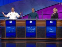 Jeopardy contestant winning with just $1