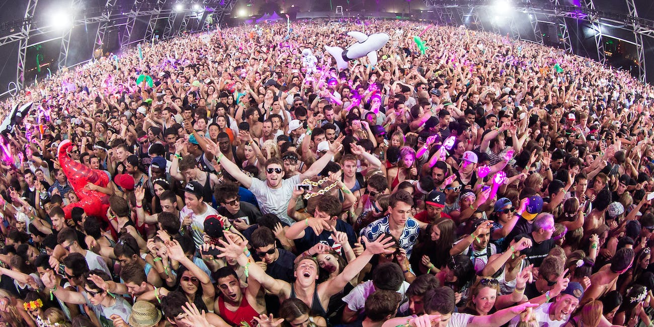 An enthusiastic crowd at Coachella