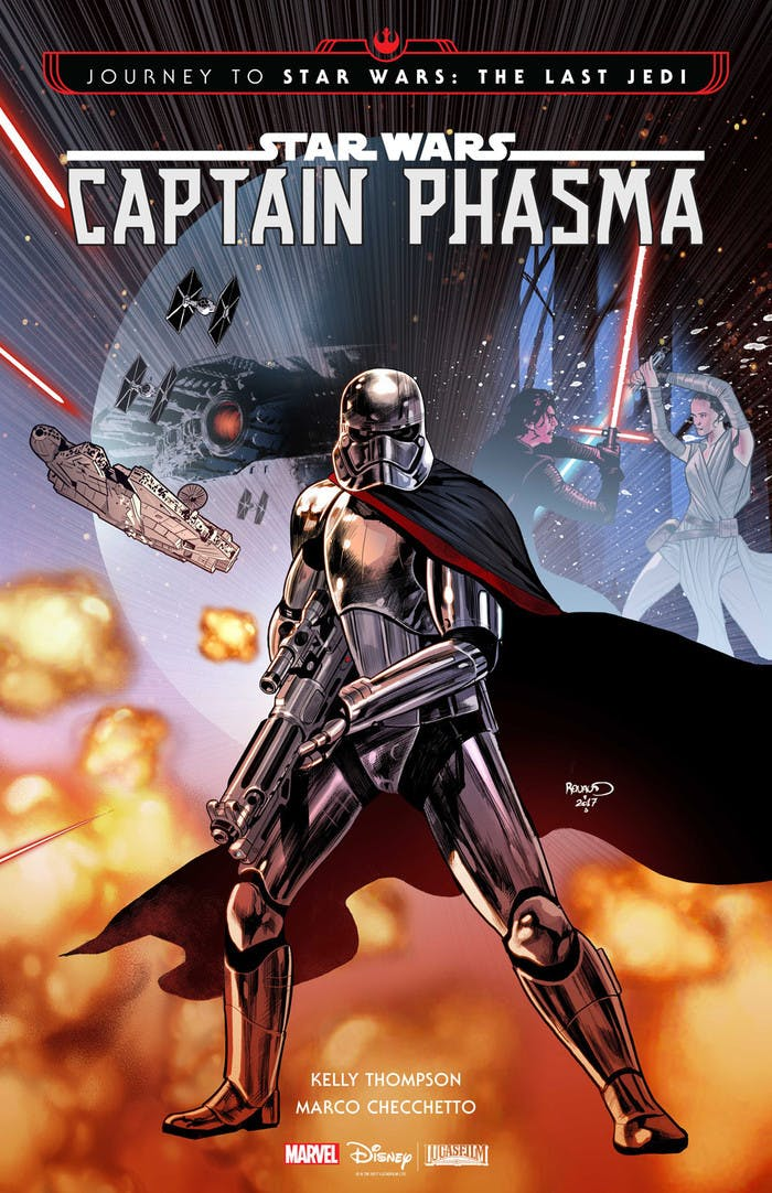 The full cover for the first issue of 'Captain Phasma.'