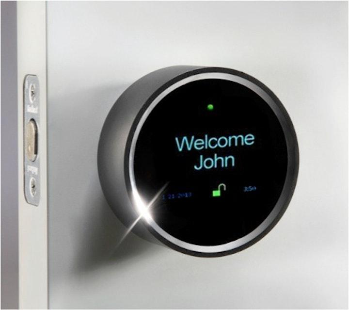 A Goji smart doorknob.