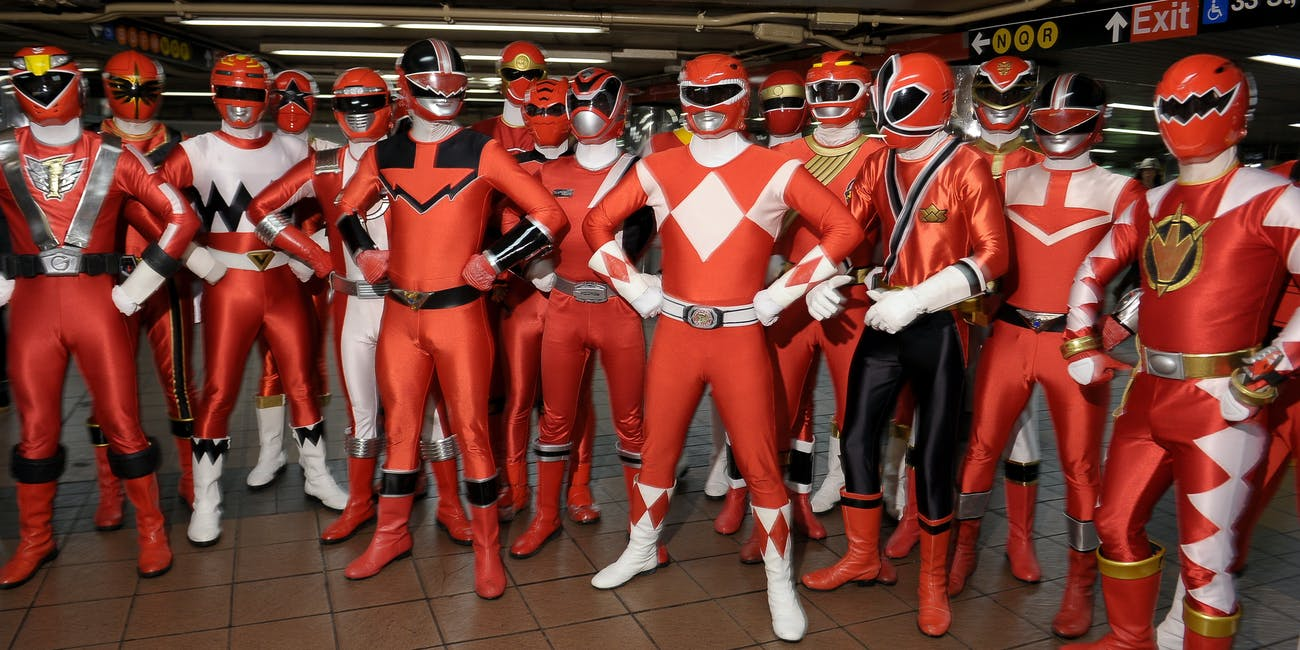 Power Rangers Red Rangers New York