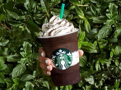 Get the Midnight Mint Mocha Frappuccino at Starbucks Happy Hour on Friday