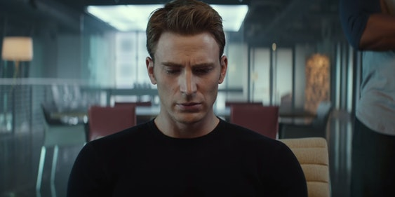 Chris Evans as Steve Rogers in 'Captain America: Civil War'