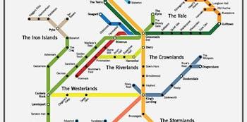 subway map Westeros Game of Thrones maps navigation fantasy