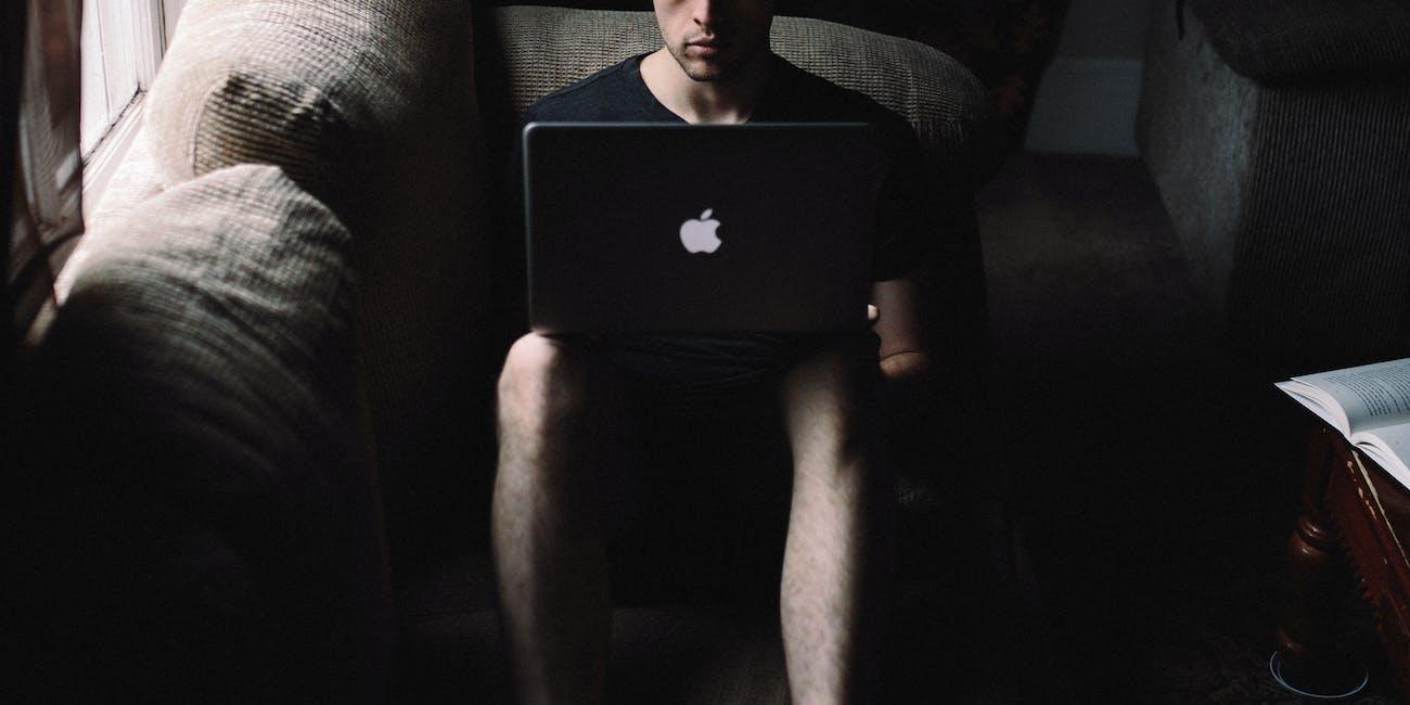 hacker in a dark room