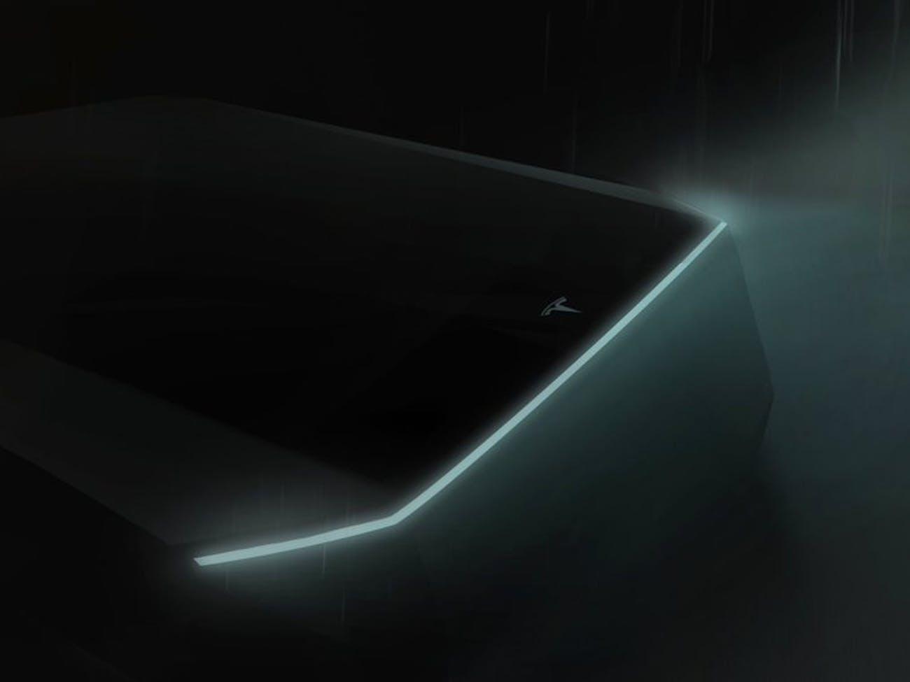 Tesla truck teaser.